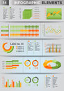 INFOGRAPHIC presentation template graph pie Stock Photo
