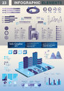 INFOGRAPHIC presentation template graph pie Stock Photos