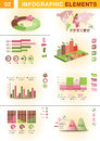 INFOGRAPHIC presentation template graph pie Royalty Free Stock Photography