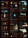 Infographic sheet dark version Royalty Free Stock Photo