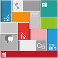 Infographic squares background with colorful eps file Stock Images