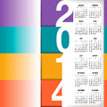Infographic style calendar for home office or website Stock Images