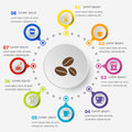 Infographic template with coffee icons