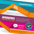 Infographic template design for infographics website or brochures Royalty Free Stock Image