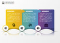 Infographic template. Minimal colorful numbered banners. Vector
