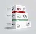 Infographic template Modern box Design Minimal style.