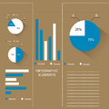 Infographic template modern design Stock Photography