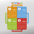 Infographic template simply step by step Royalty Free Stock Photography