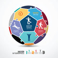 Infographic Template with soccer jigsaw banner . c Royalty Free Stock Photography