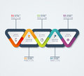 Infographic template of triangular elements