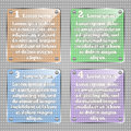 Infographic template. Vector glassy square infographic elements