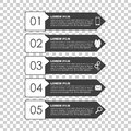 Infographic templates for business. Black and white flat vector