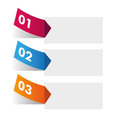 Infographic with three options d illustration of colorful numbered and copy space Stock Photo