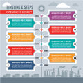 Infographic vector concept timeline steps for various design projects Stock Photo