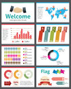 Infographic vector illustration presentation ppt Stock Images