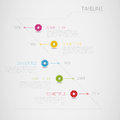 Infographic vector timeline template with circle i