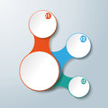 Infographic white connected circles options design with colored and on the grey background eps vector file Stock Image