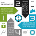 Infographics abstract square options four choices with arrows eps named layers Royalty Free Stock Photo