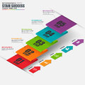 Infographics business stair step success vector design template Royalty Free Stock Photo