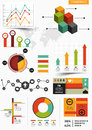 Infographics collection graphs charts Royalty Free Stock Photography