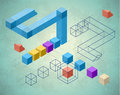 Infographics with cubes Royalty Free Stock Photo