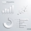 Infographics design elements vector template elegant Stock Photography