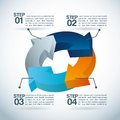 Infographics design over blue background vector illustration Stock Image