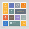 Infographics design template with icons, process diagram,