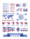 Infographics in doodle style vector hand drawn design elements Stock Photography