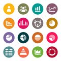 Infographics elements icon set Royalty Free Stock Images