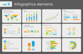 Infographics elements with icons Stock Photos