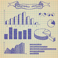 Infographics elements sketch Stock Image