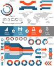 Infographics icons and statistic elements and Stock Photography
