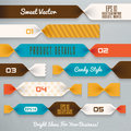 Infographics illustration ribbons step by step Royalty Free Stock Photography