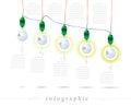 Infographics of a light bulb