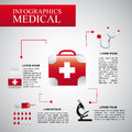 Infographics medical over gray background vector illustration Stock Images
