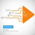 Infographics options banner illustration of with arrow for presentation and promotion Royalty Free Stock Photos