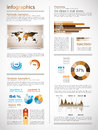 Infographics page with a lot of design elements Royalty Free Stock Image