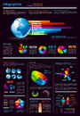 Infographics page with a lot of design elements Royalty Free Stock Photos