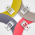 Infographics paper elements with numbered labels Stock Photo