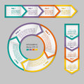 Infographics. Process chart module.