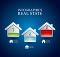 Infographics real estate over blue background vector illustration Stock Photo