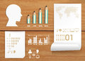 Infographics set and Information education concept Stock Photo