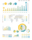 Infographics set and Information Graphics Stock Image