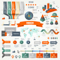 Infographics set with options. Business icons and charts circle origami style. Vector illustration. Diagram, web design, number Royalty Free Stock Photo