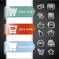 Infographics shopping over blac background vector illustration Stock Photography