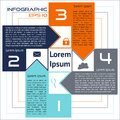 Infographics square abstract options four choices with arrows eps named layers Royalty Free Stock Images