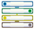 Infographics template with sliders metal banners and buttons menu bars Stock Images