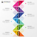 Infographics timeline. Colorful concept with arrows. Vector illustration Royalty Free Stock Photo