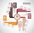 Infographics to describe the process easily editable file Stock Photos